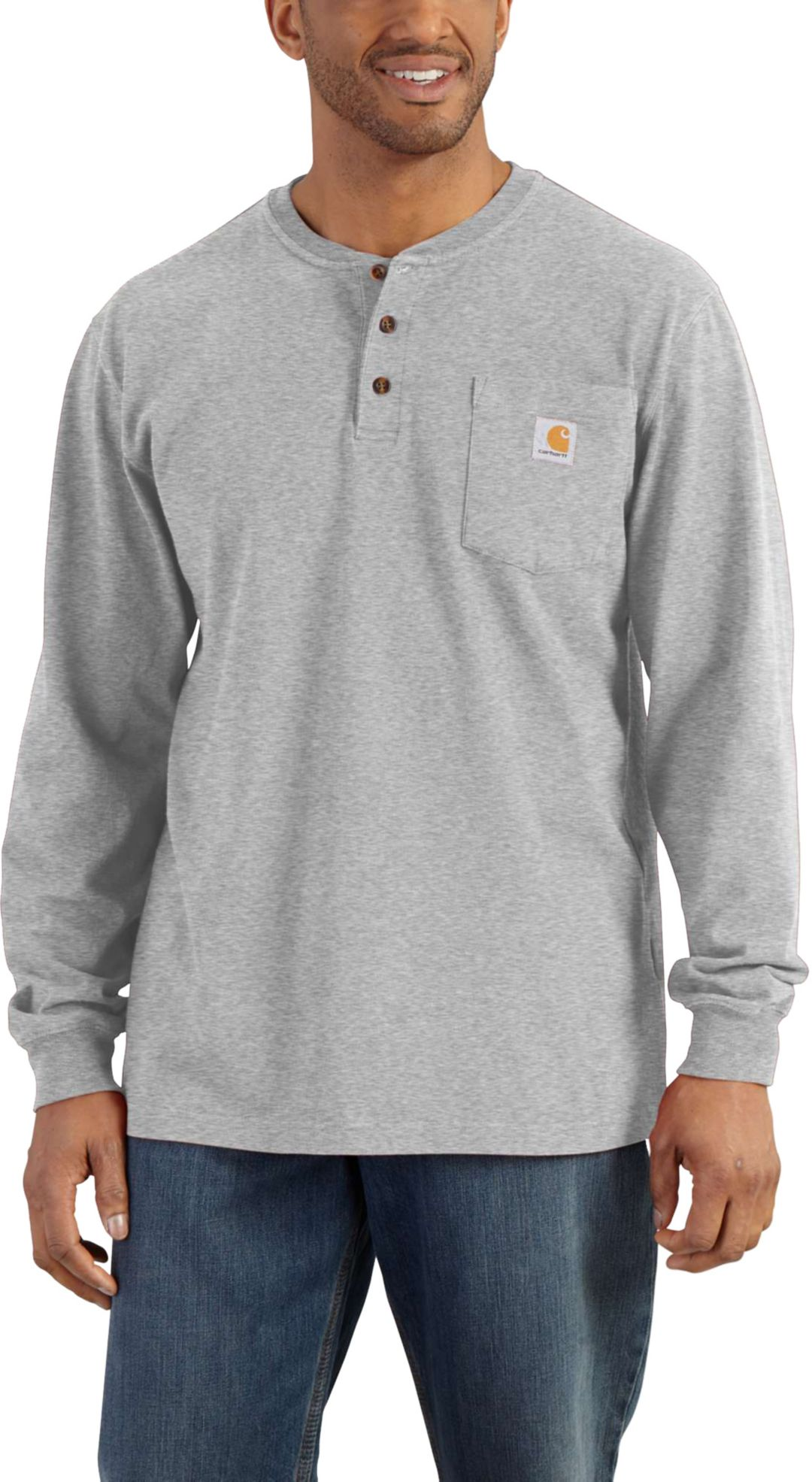 3591bb29 Carhartt Men's Workwear Henley Long Sleeve Shirt - Big & Tall ...