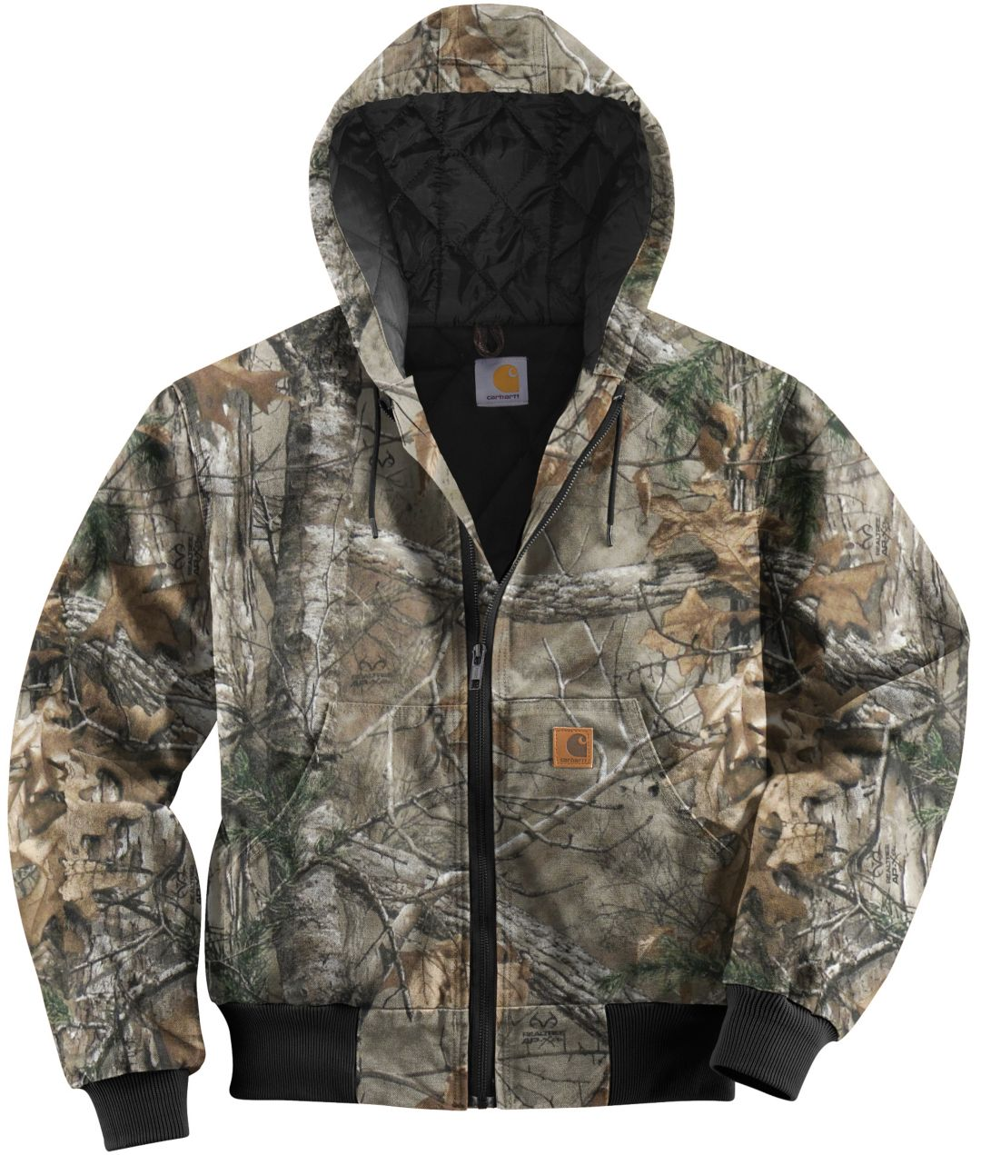 c6e5c80157492 Carhartt Men's Quilted-Flannel Lined Camo Active Jacket. noImageFound. 1
