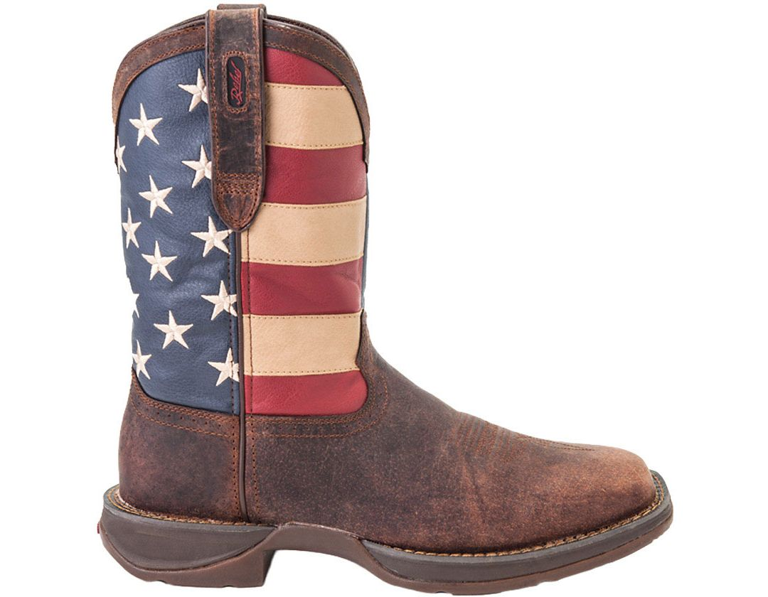 783164c6a2c Durango Men's American Flag Pull-On Western Work Boots