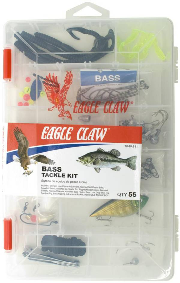Eagle Claw Bass Tackle Kit - 55 Pieces product image