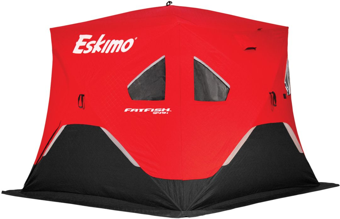 Eskimo FatFish Insulated Pop-up Portable 4-Person Ice Fishing Shelter