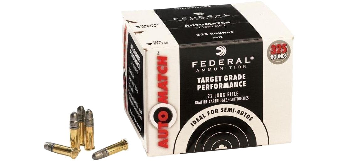 Federal AutoMatch  22LR Champion Rifle Ammo – 325 Rounds