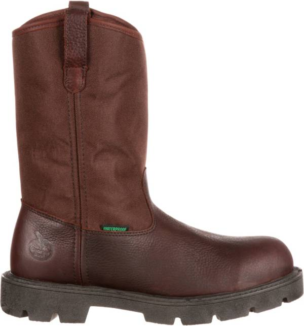 Georgia Boot Men's Homeland Wellington 11'' Waterproof Steel Toe Work Boots product image