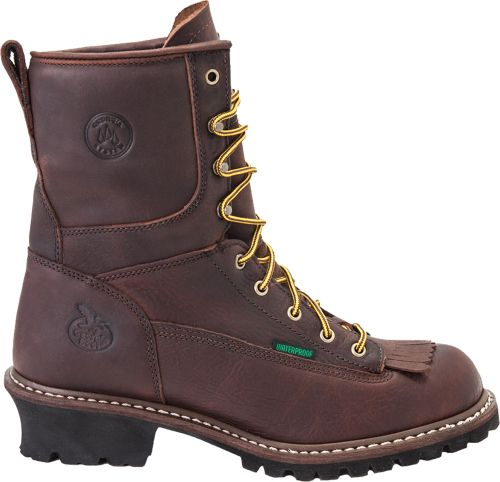 Georgia Boot Men s Logger Waterproof 8   Steel Toe Work Boots ... ae3dfbf657ad