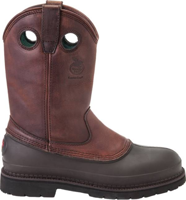 "Georgia Boot Men's Wellington Muddog 11"" Steel Toe Wide Work Boots product image"