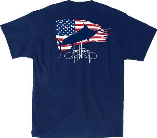 729ac73af392 Guy Harvey Men s Patriotic Fish T-Shirt 1