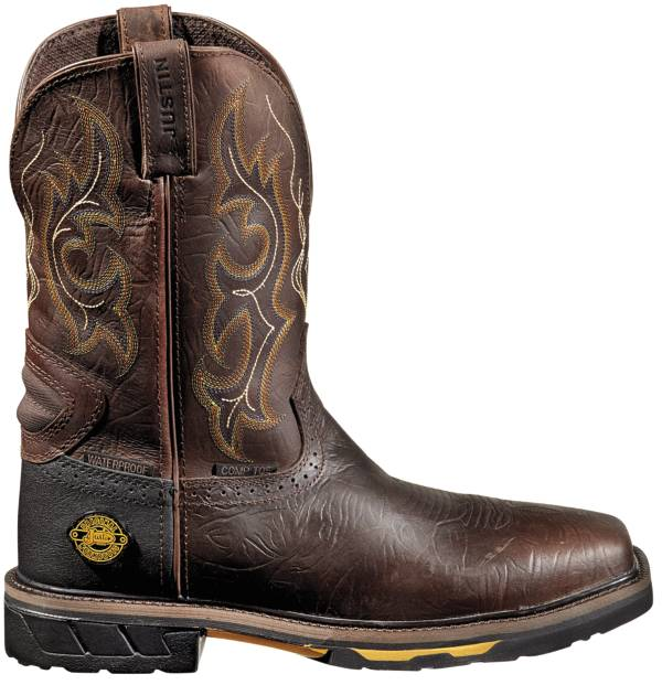 Justin Men's Rustic Barnwood Hybred Waterproof Work Boots product image