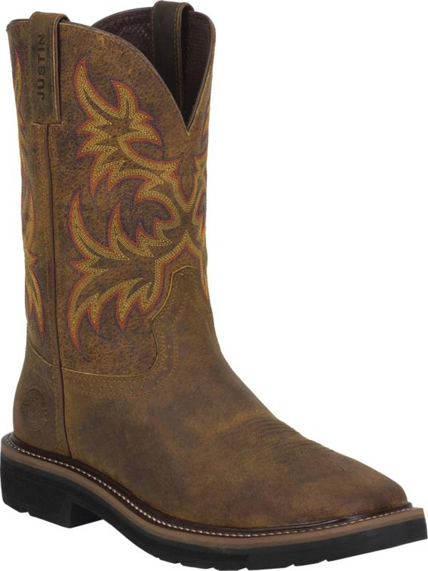 Justin Men's Rugged Tan Cowhide Stampede Work Boots product image