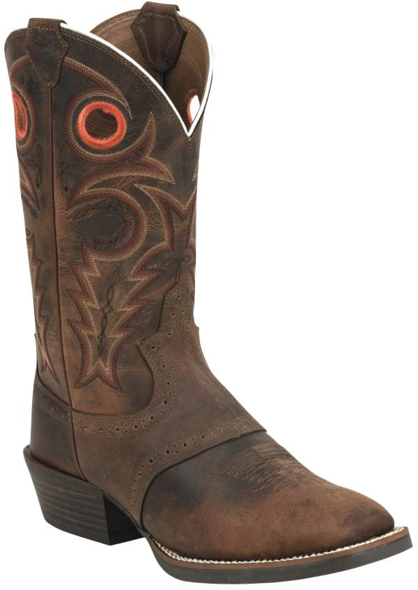 Justin Men's Whiskey Buffalo Silver Collection Western Boots product image