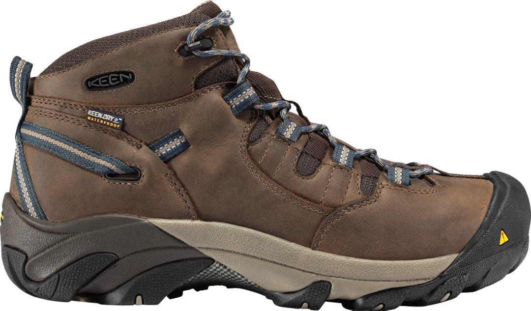 8cc6027fc31 KEEN Men's Detroit Mid Waterproof Steel Toe Work Boots