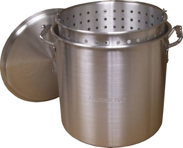 King Kooker 32-Qt. Aluminum Boiling Pot with Basket and Lid product image