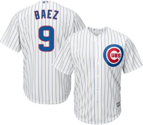f0b2a5cdd1e Majestic Men s Replica Chicago Cubs Javier Baez  9 Cool Base Home White  Jersey