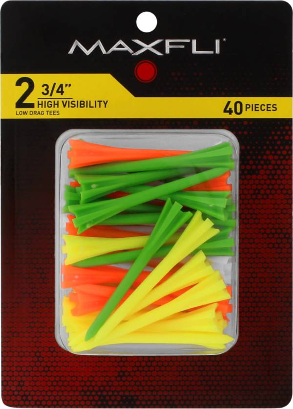 Maxfli Pronged 2.75'' High-Visibility Golf Tees – 40-Pack product image