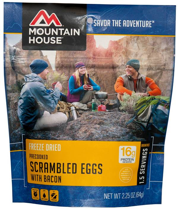 Mountain House Precooked Scrambled Eggs with Bacon product image