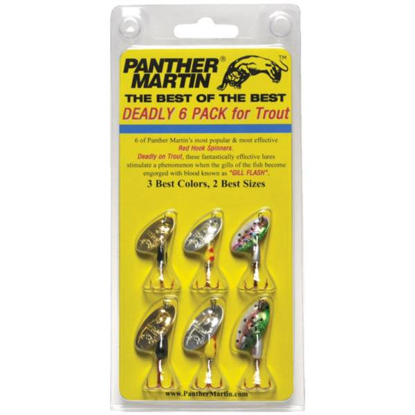 Panther Martin Best of the Best Trout Spinners – 6 Pack product image