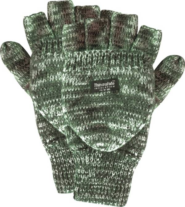 QuietWear Men's Knit Flip Insulated Gloves product image