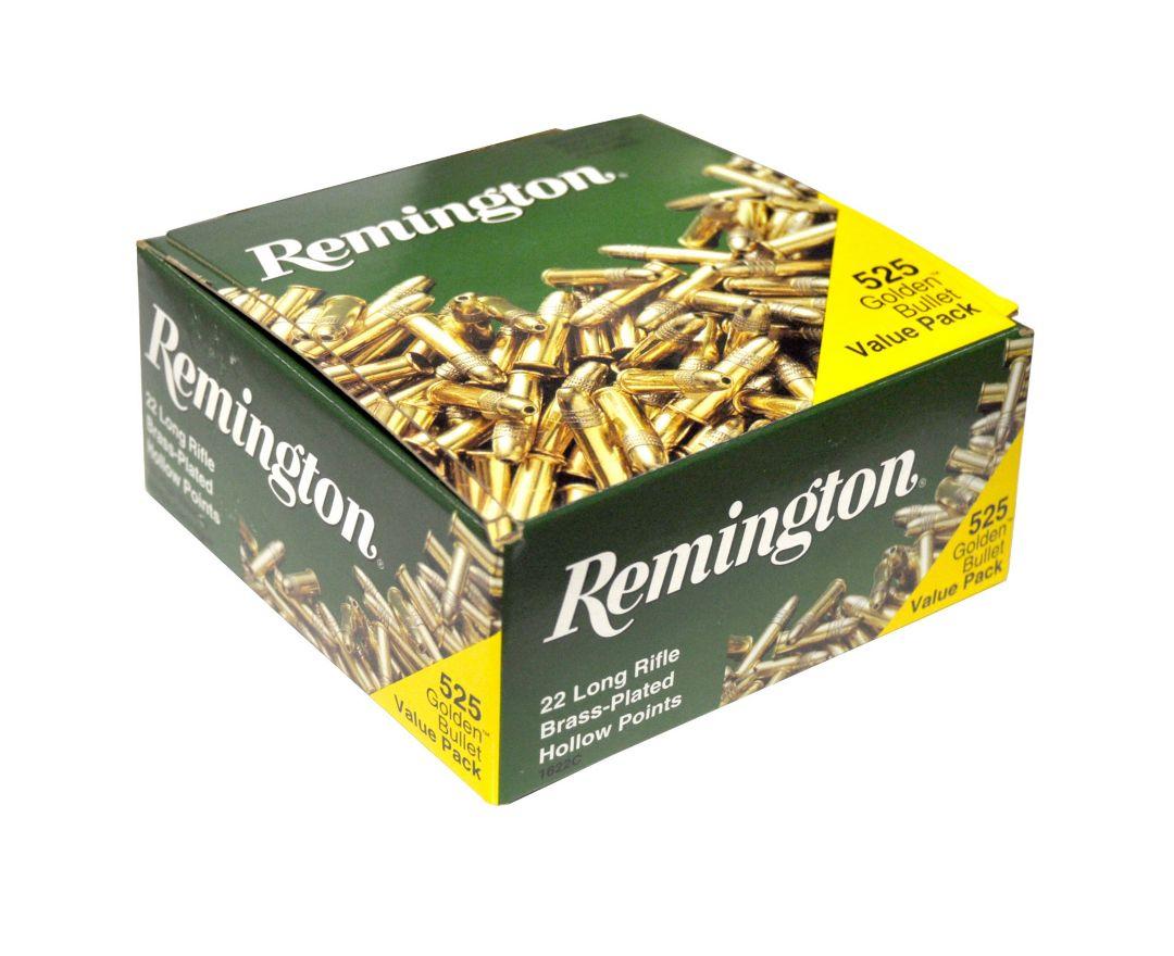 683606417199 Remington Golden Bullet .22LR HP Rimfire Rifle Ammunition 525 Pack – 36  Grain