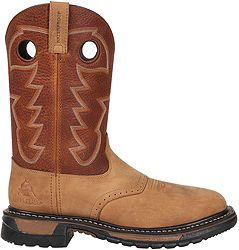 "4b03115160f Rocky Men's Original Ride 11"" Steel Toe Western Work Boots"