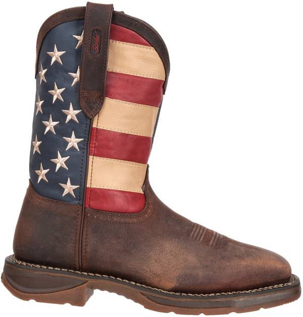"Durango Men's Rebel American Flag 11"" Steel Toe Western Work Boots product image"