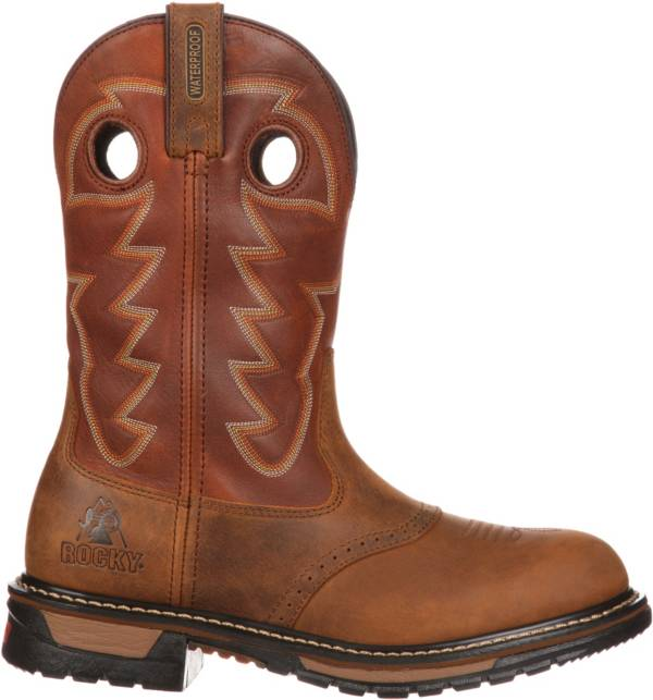 "Rocky Men's Original Ride Branson Saddle 11"" Waterproof Western Boots product image"
