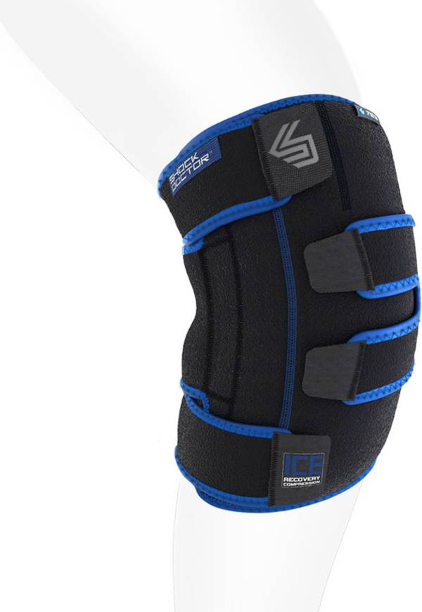 Shock Doctor ICE Recovery Compression Knee Wrap Black Large//X-L.. Free Shipping