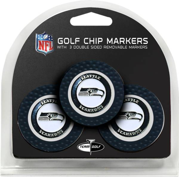 Team Golf Seattle Seahawks Poker Chips Ball Markers - 3-Pack product image