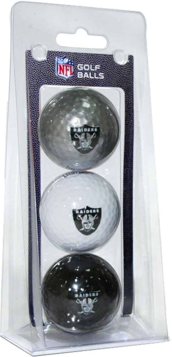 Team Golf NFL Las Vegas Raiders Golf Balls - 3 Pack product image