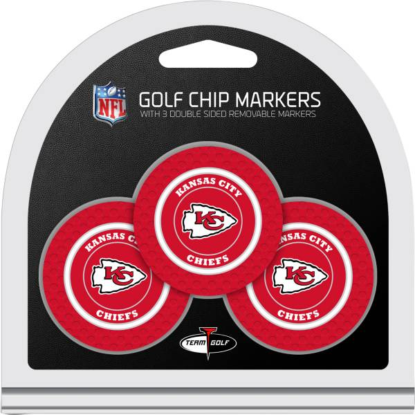 Team Golf Kansas City Chiefs Poker Chips Ball Markers - 3-Pack product image