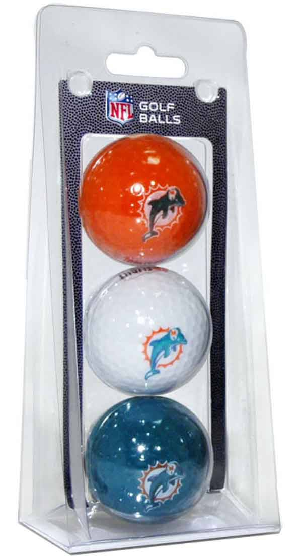 Team Golf Miami Dolphins Golf Balls – 3 Pack product image