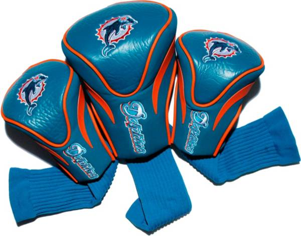 Team Golf Miami Dolphins 3-Pack Contour Headcovers product image