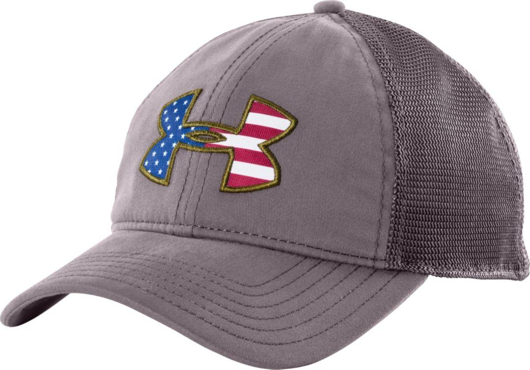 c76d598faa505c Under Armour Men's Big Flag Logo Mesh Back Hat | DICK'S Sporting Goods