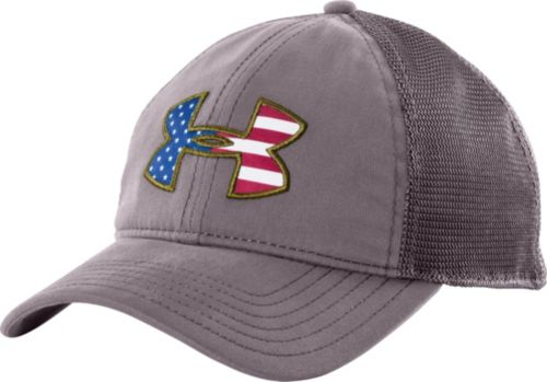8e65defd9d5ea Under Armour Men s Big Flag Logo Mesh Back Hat