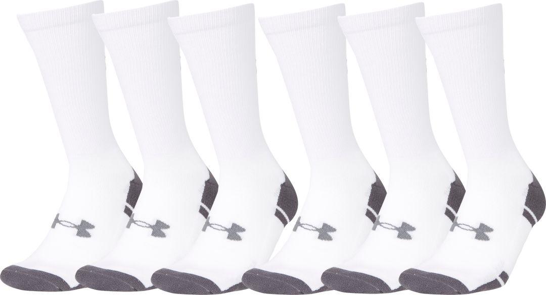 c4315ba84 Under Armour Resistor Crew Socks 6 Pack   DICK'S Sporting Goods