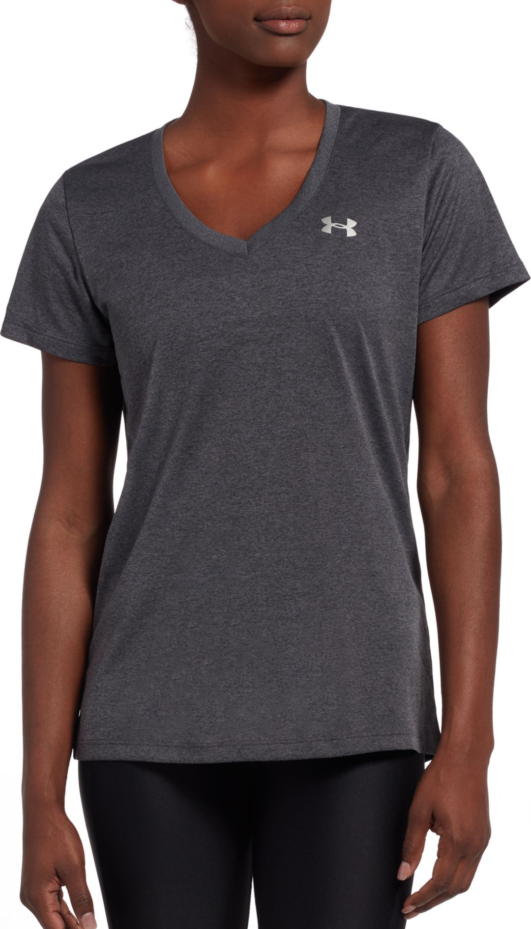 7eddf2b4 Under Armour Women's Tech V-Neck Short Sleeve Shirt