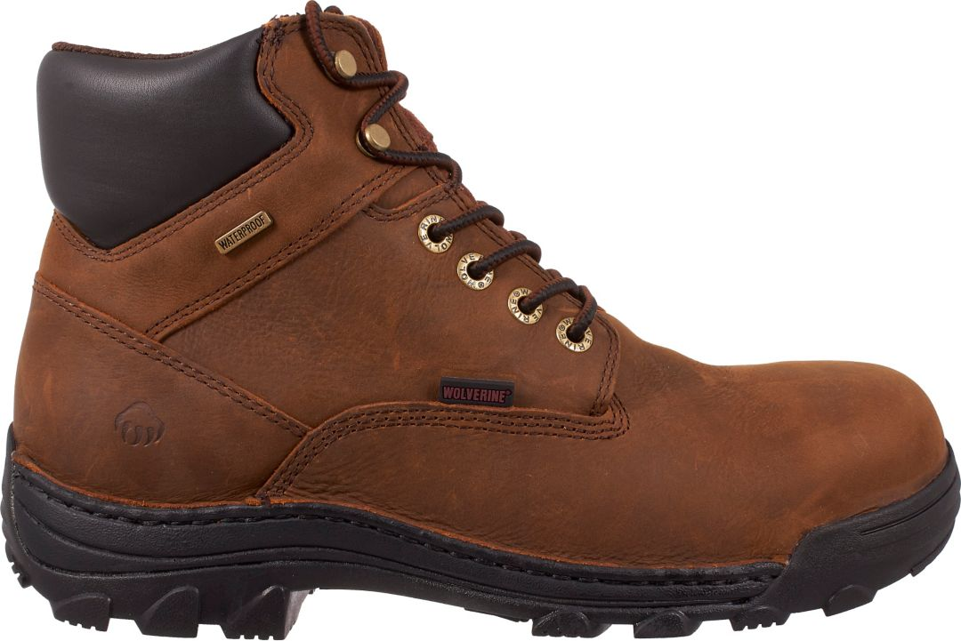 07563cba7f1 Wolverine Men's Durbin 6'' Waterproof Steel Toe Work Boots