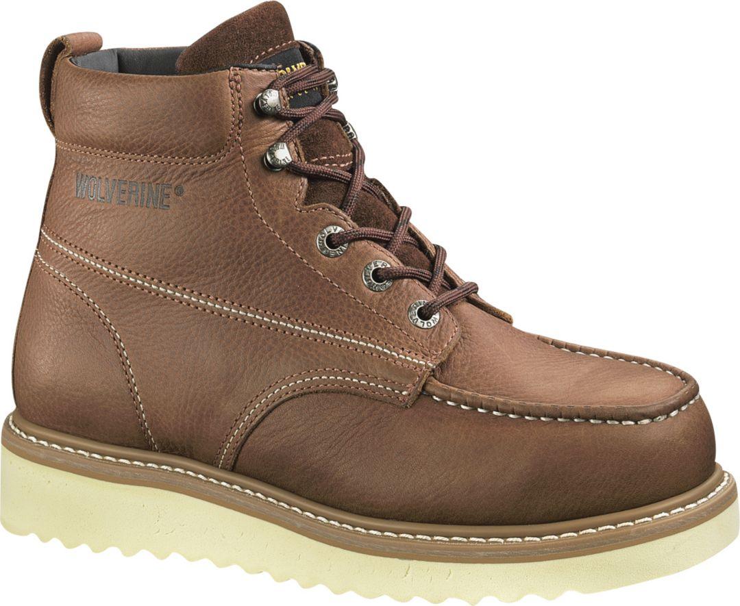 "b03c942112b Wolverine Men's Moc-Toe Wedge 6"" Work Boots"