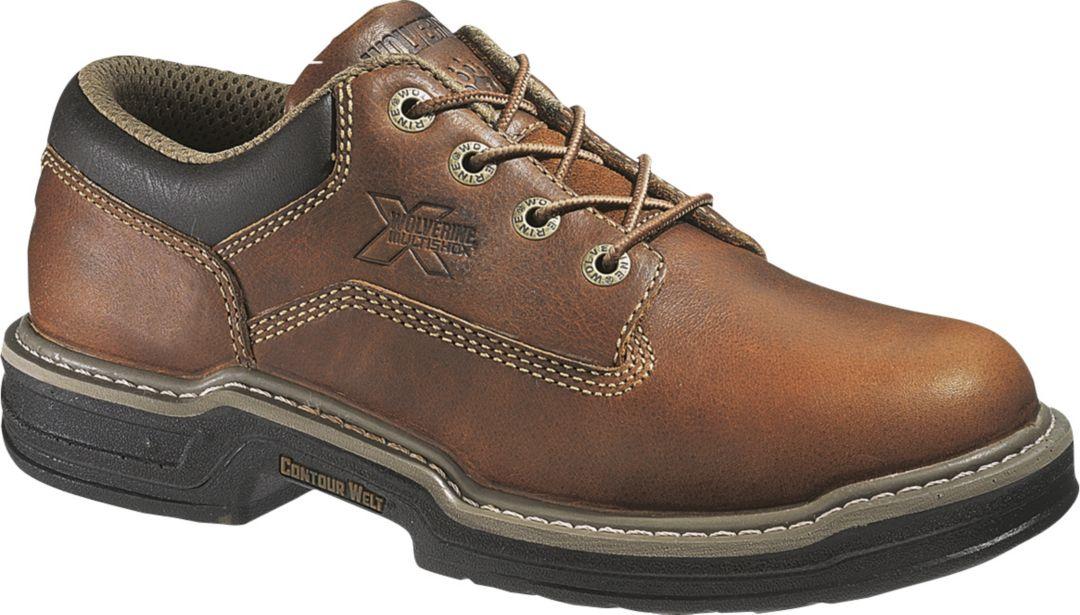 a14c7317c96 Wolverine Men's Raider Oxford Steel Toe Work Shoes