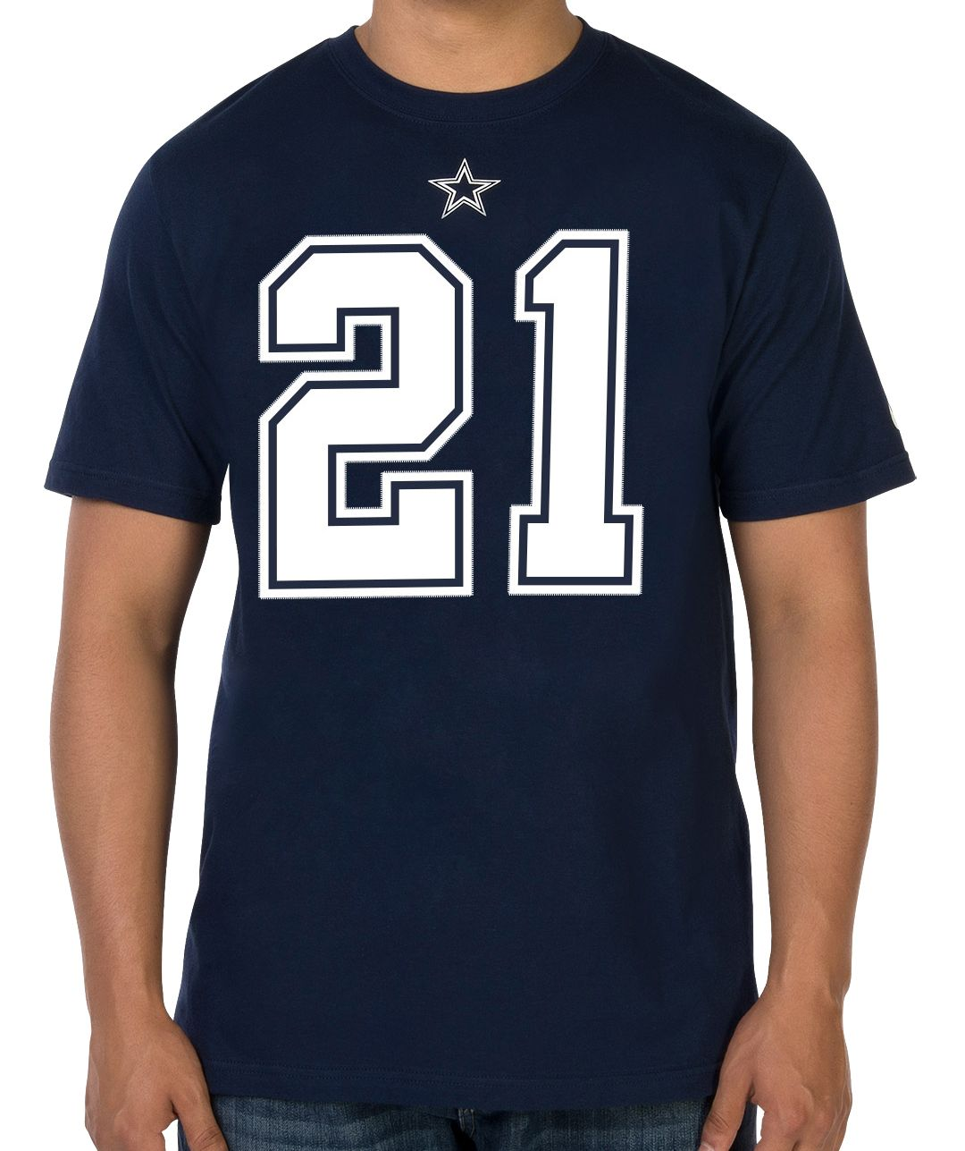 the latest ea3b6 6c10c Nike Men's Dallas Cowboys Ezekiel Elliott #21 Pride Navy T-Shirt