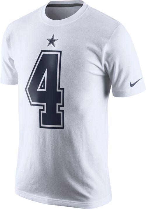 de8a1a2f56a Nike Men's Dallas Cowboys Dak Prescott #4 Pride White T-Shirt.  noImageFound. Previous. 1. 2