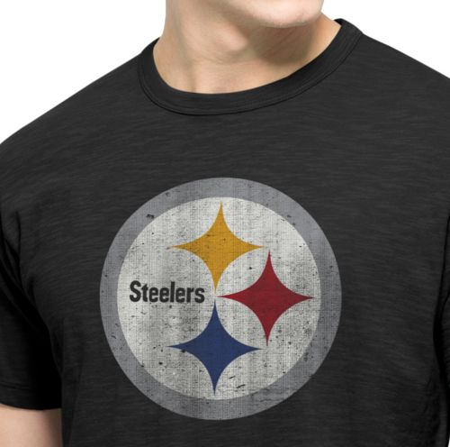 07f974d2b 47 Men s Pittsburgh Steelers Scrum Logo T-Shirt