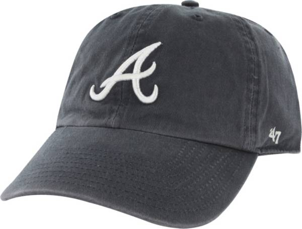 '47 Men's Atlanta Braves Navy Clean Up Adjustable Hat product image
