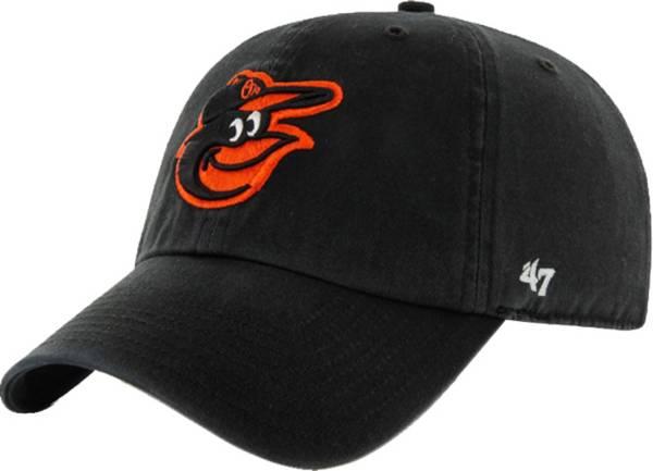 '47 Men's Baltimore Orioles Clean Up Black Adjustable Hat product image