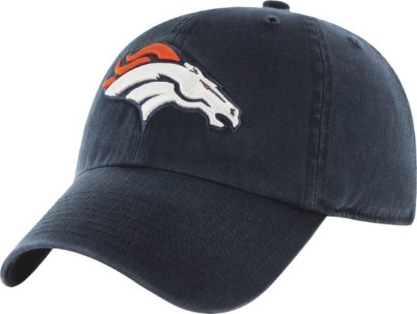 '47 Men's Denver Broncos Navy Clean Up Adjustable Hat product image