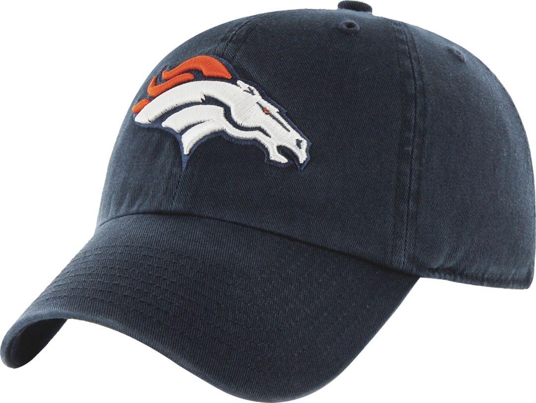 efebf03c2 '47 Men's Denver Broncos Navy Clean Up Adjustable Hat