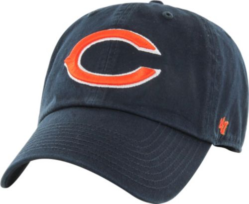 9bc177f051fc8 47 Men s Chicago Bears Clean Up Adjustable Navy Hat