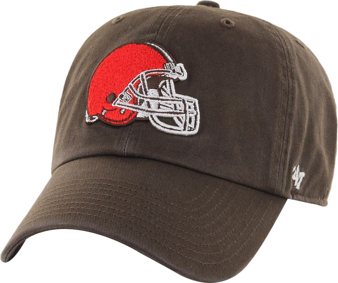 e62a532b313eb 47' Men's Cleveland Browns Clean Up Brown Adjustable Hat