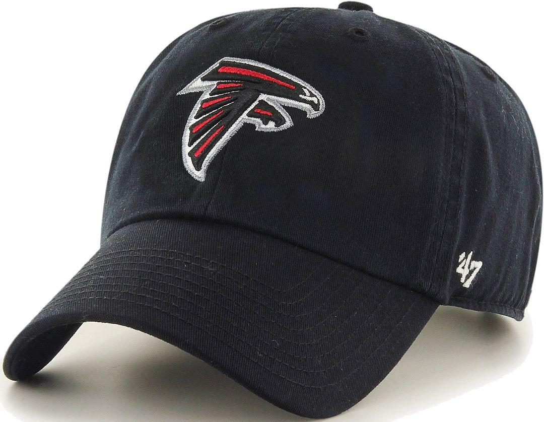 884e2ca6 '47 Men's Atlanta Falcons Black Clean Up Adjustable Hat