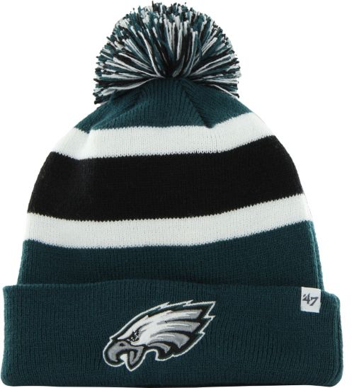 47 Men s Philadelphia Eagles Breakaway Cuffed Green Knit Hat ... 83dbc4861bc