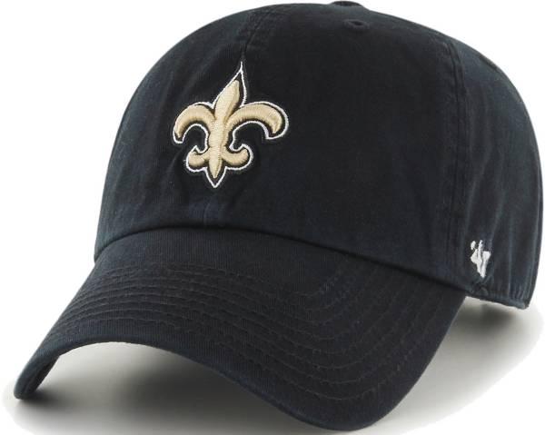 '47 Men's New Orleans Saints Black Clean Up Adjustable Hat product image