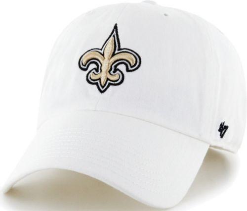 on sale a72da bd5d9 ... New Orleans Saints White Clean Up Adjustable Hat. noImageFound. 1